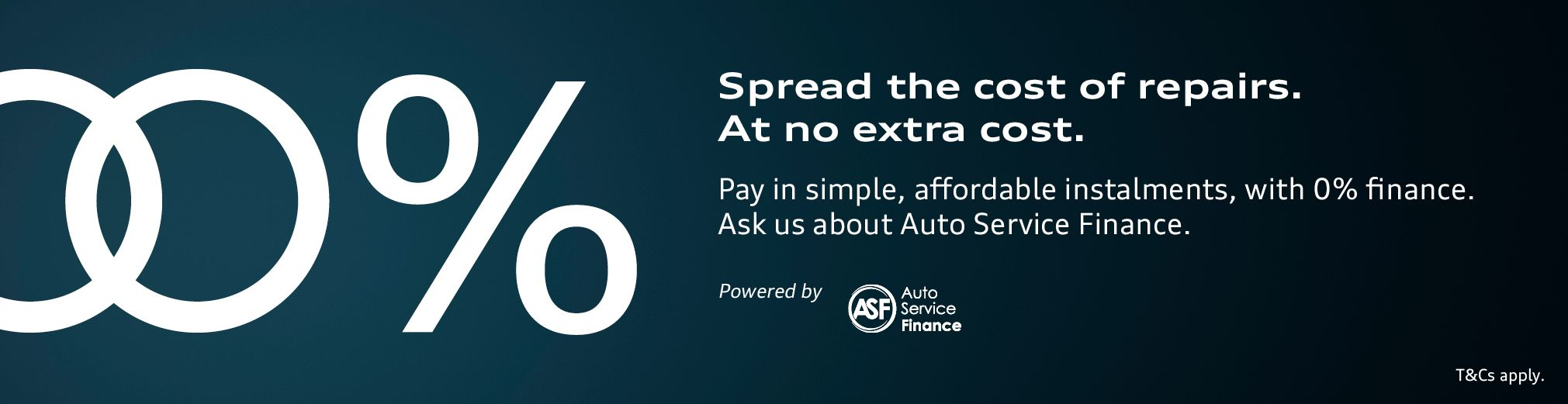 0% APR finance on service, maintenance and repairs