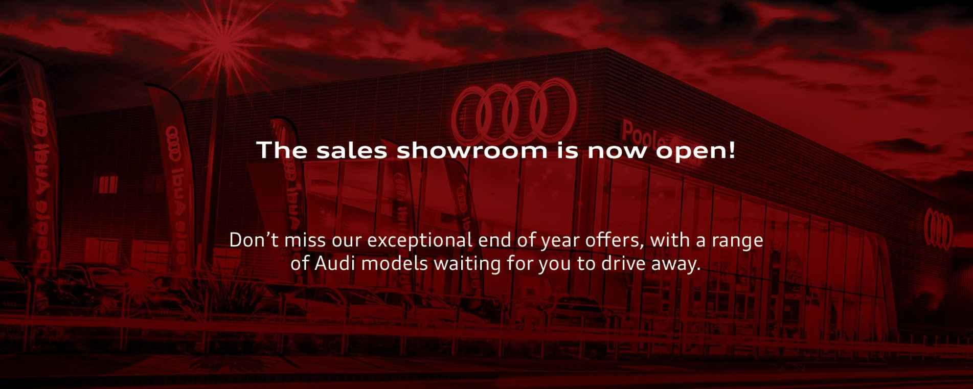 The sales showroom is now open!